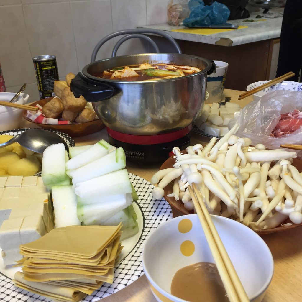 hot pot in the kitchen